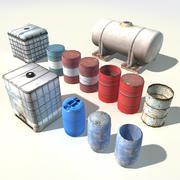Water- en vloeistofreservoirs 3d model