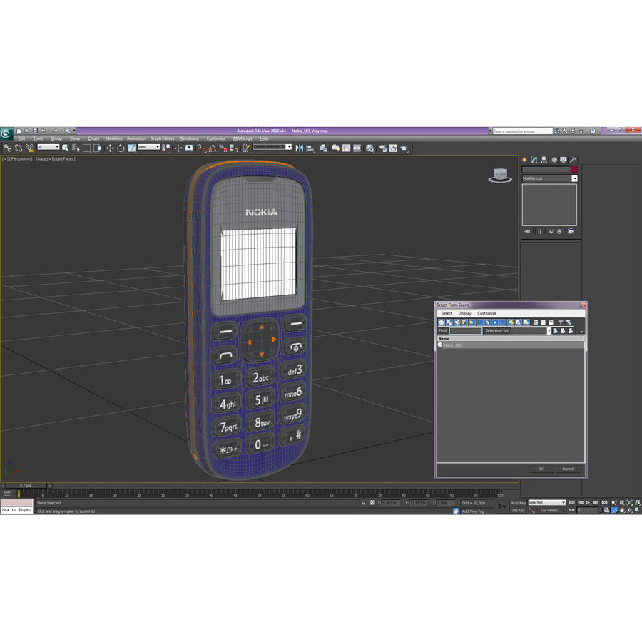 Nokia 103 royalty-free 3d model - Preview no. 3