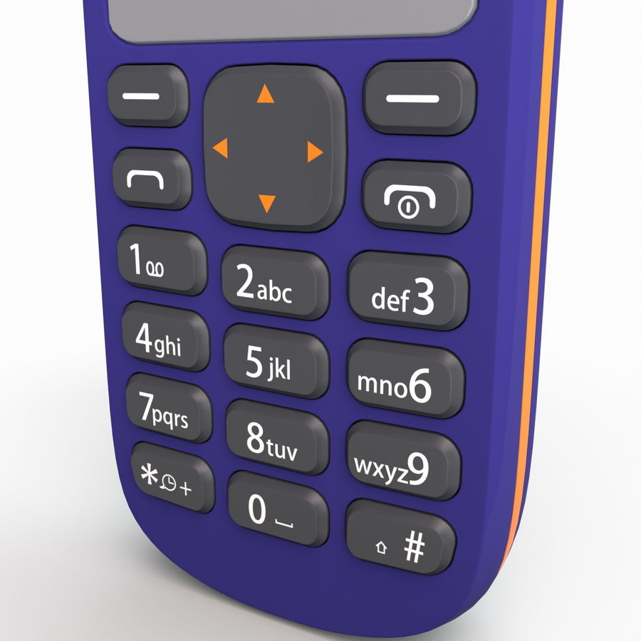 Nokia 103 royalty-free 3d model - Preview no. 14