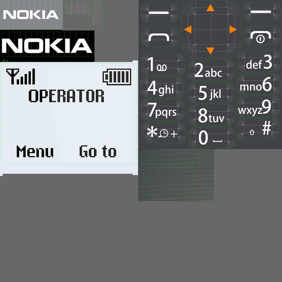 Nokia 103 royalty-free 3d model - Preview no. 1