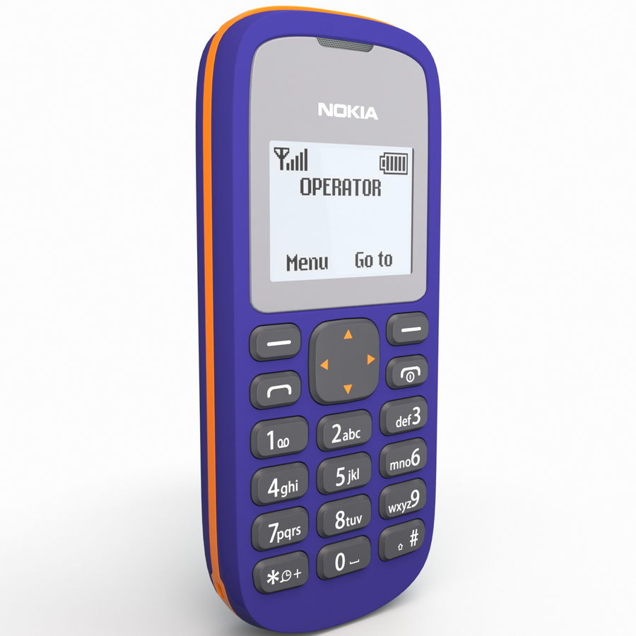 Nokia 103 royalty-free 3d model - Preview no. 4