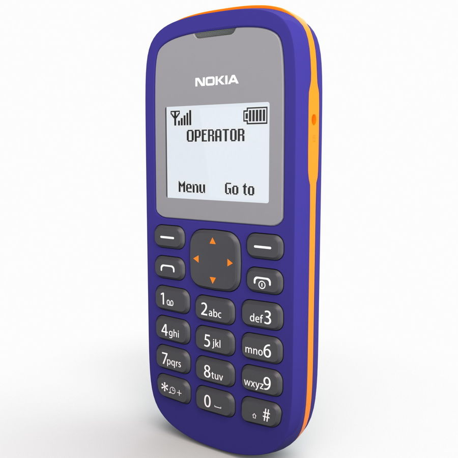 Nokia 103 royalty-free 3d model - Preview no. 10