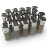 Kryddflaskor Set 3d model