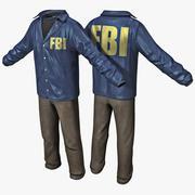 FBIエージェントの服2 3d model