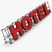 Hotel-Zeichen 3d model