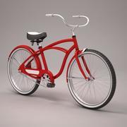 Kırmızı Plaj Bisikleti 3d model
