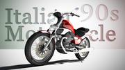 Motocicleta italiana modelo 3d