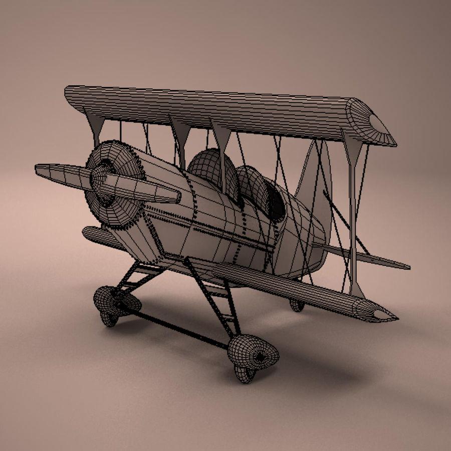 Aereo dei cartoni animati royalty-free 3d model - Preview no. 13