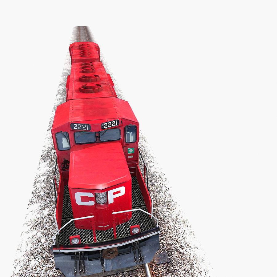 Lokomotif Motoru royalty-free 3d model - Preview no. 15