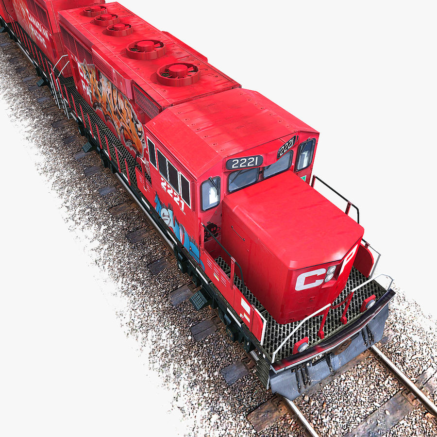 Locomotive Engine royalty-free 3d model - Preview no. 3