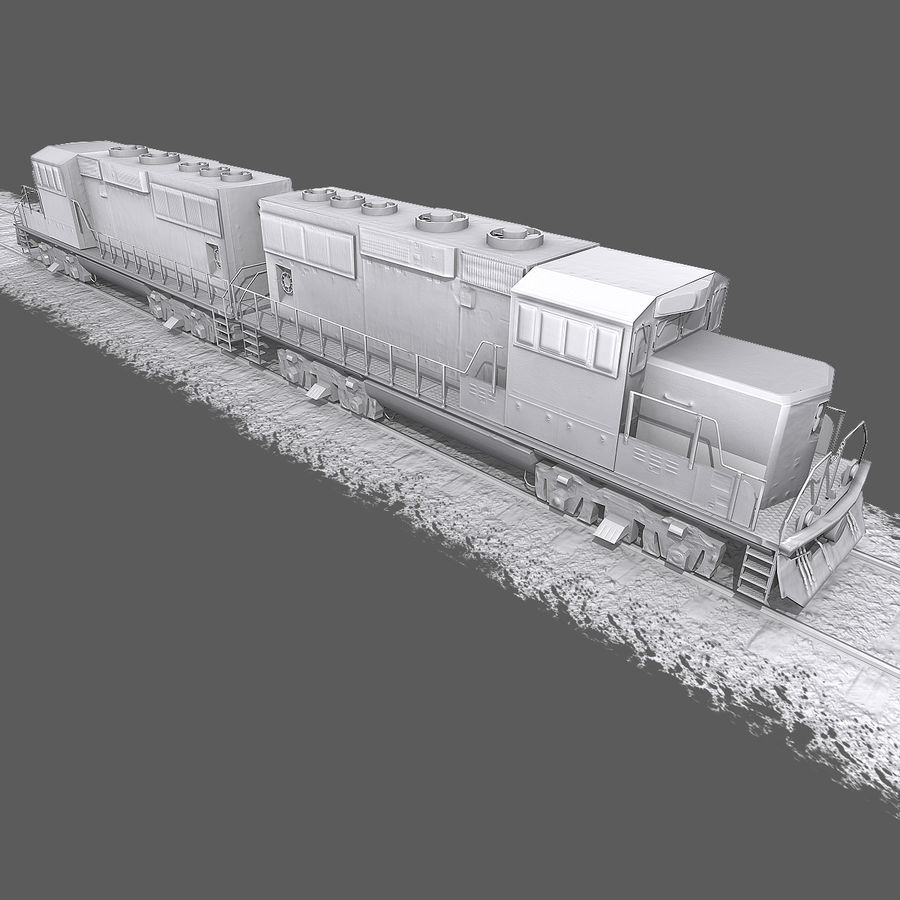 Locomotive Engine royalty-free 3d model - Preview no. 10