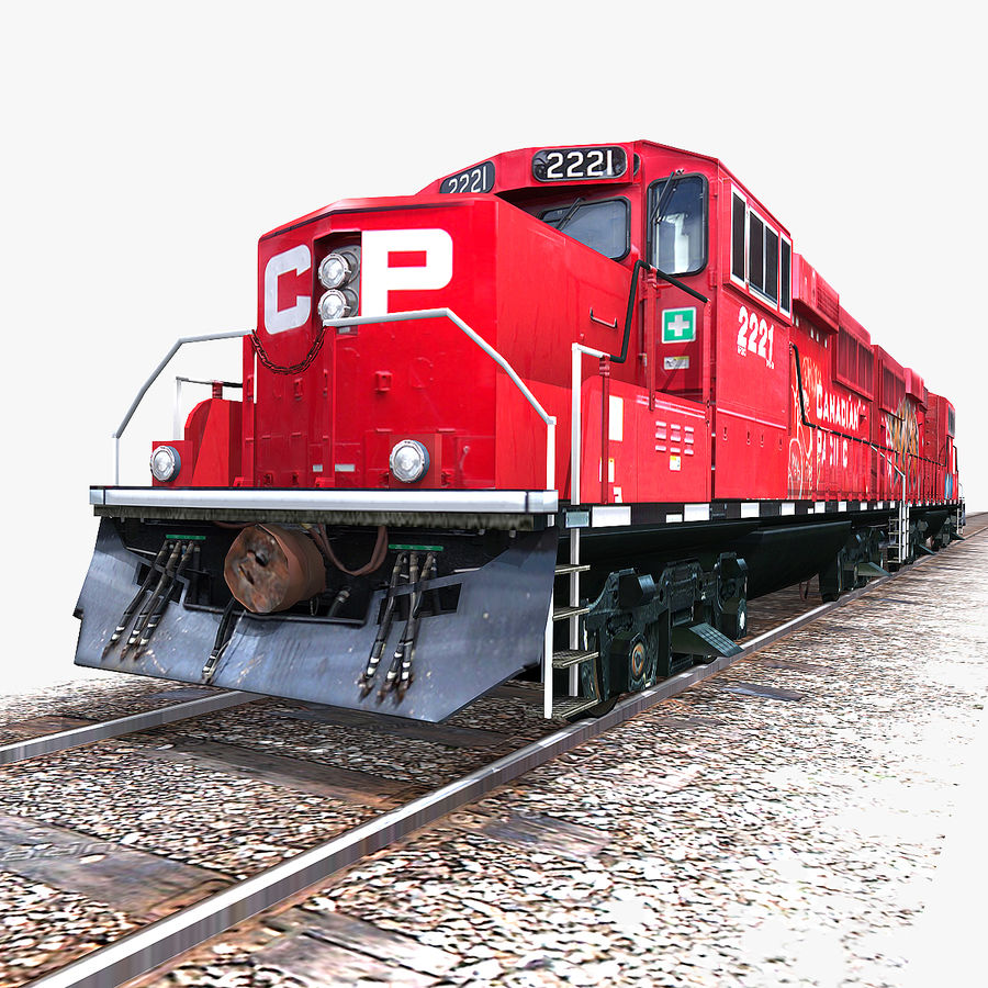 Locomotive Engine royalty-free 3d model - Preview no. 5
