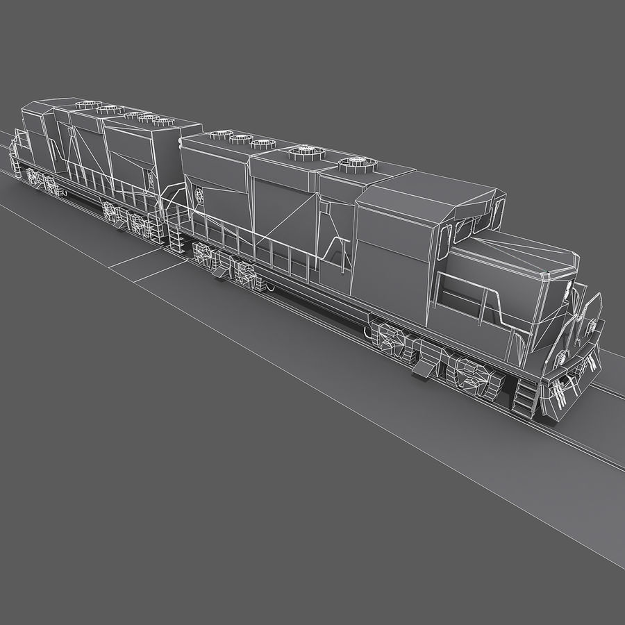 Locomotive Engine royalty-free 3d model - Preview no. 12