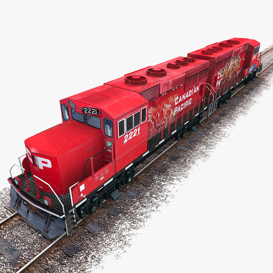 Locomotive Engine royalty-free 3d model - Preview no. 9