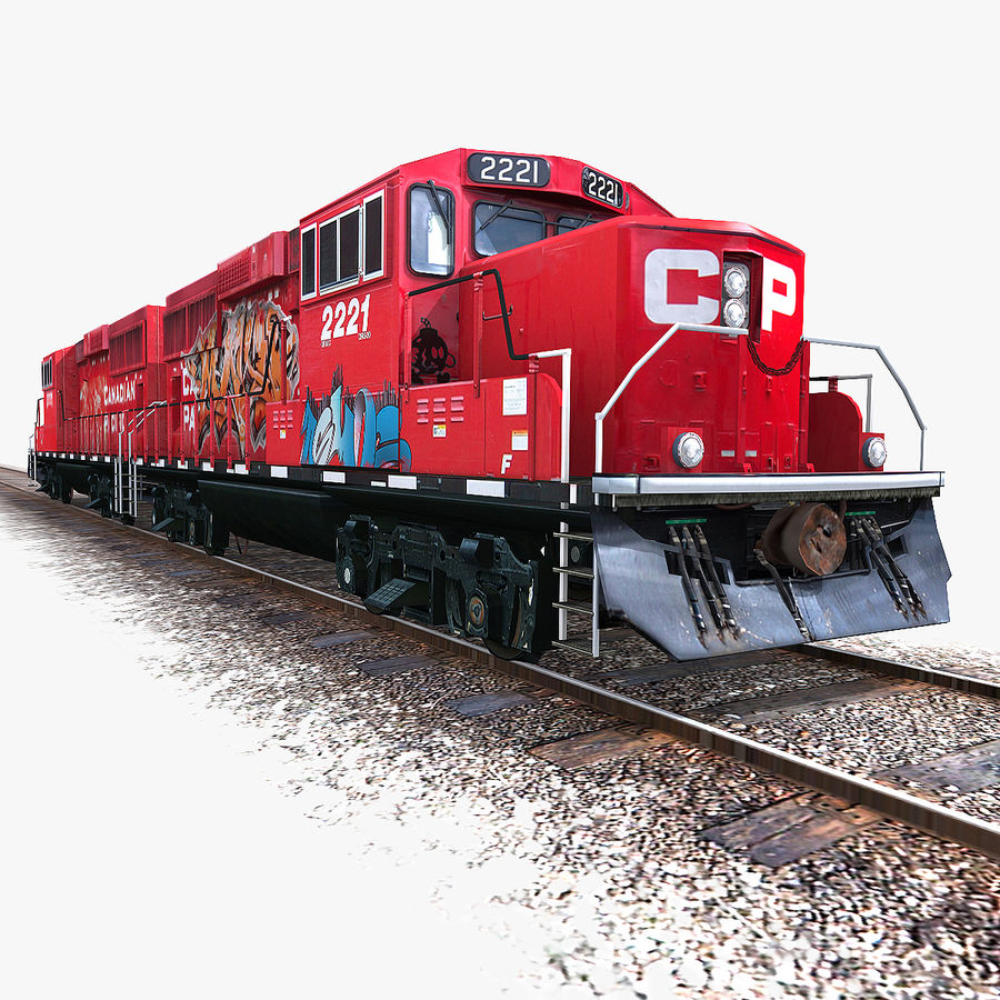 Locomotive Engine royalty-free 3d model - Preview no. 1