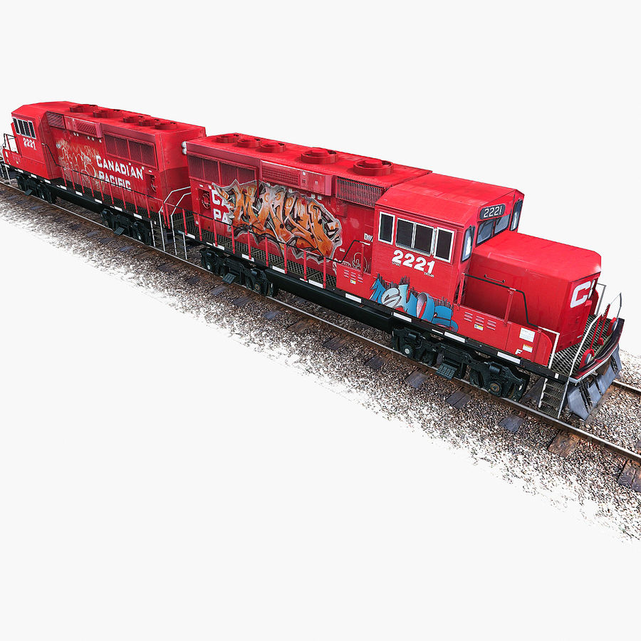 Locomotive Engine royalty-free 3d model - Preview no. 14