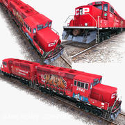 Lokomotive 3d model