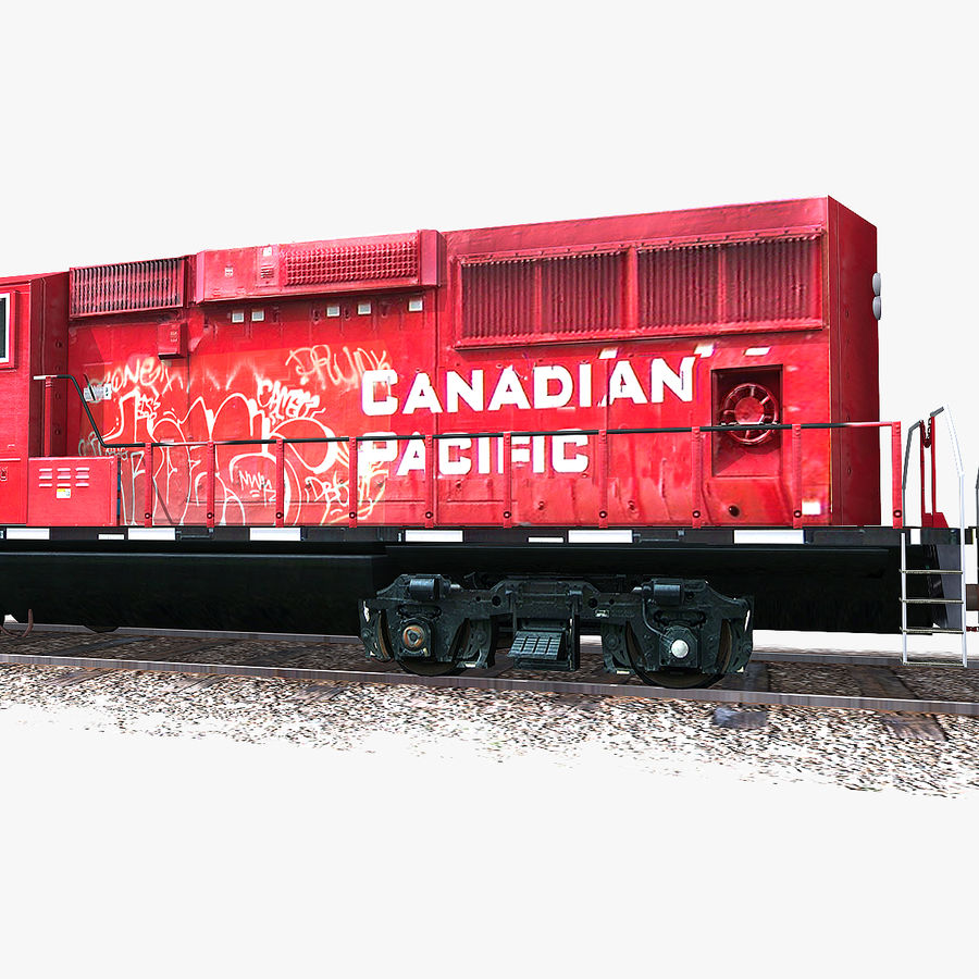 Locomotive Engine royalty-free 3d model - Preview no. 7