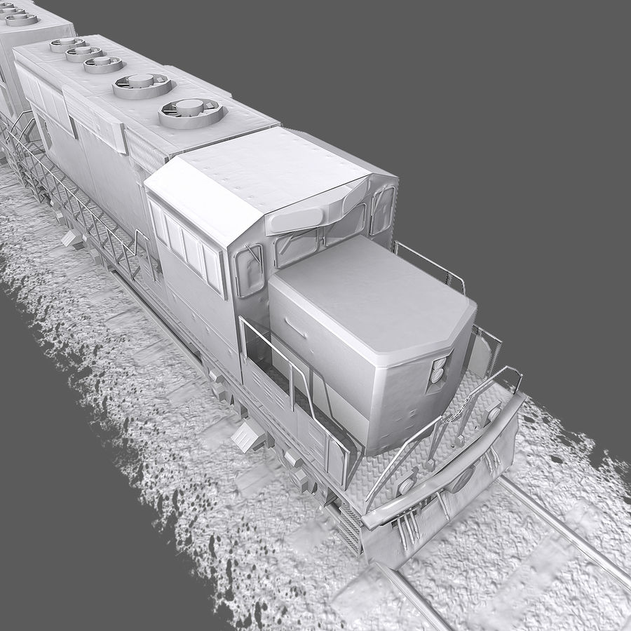 Locomotive Engine royalty-free 3d model - Preview no. 11