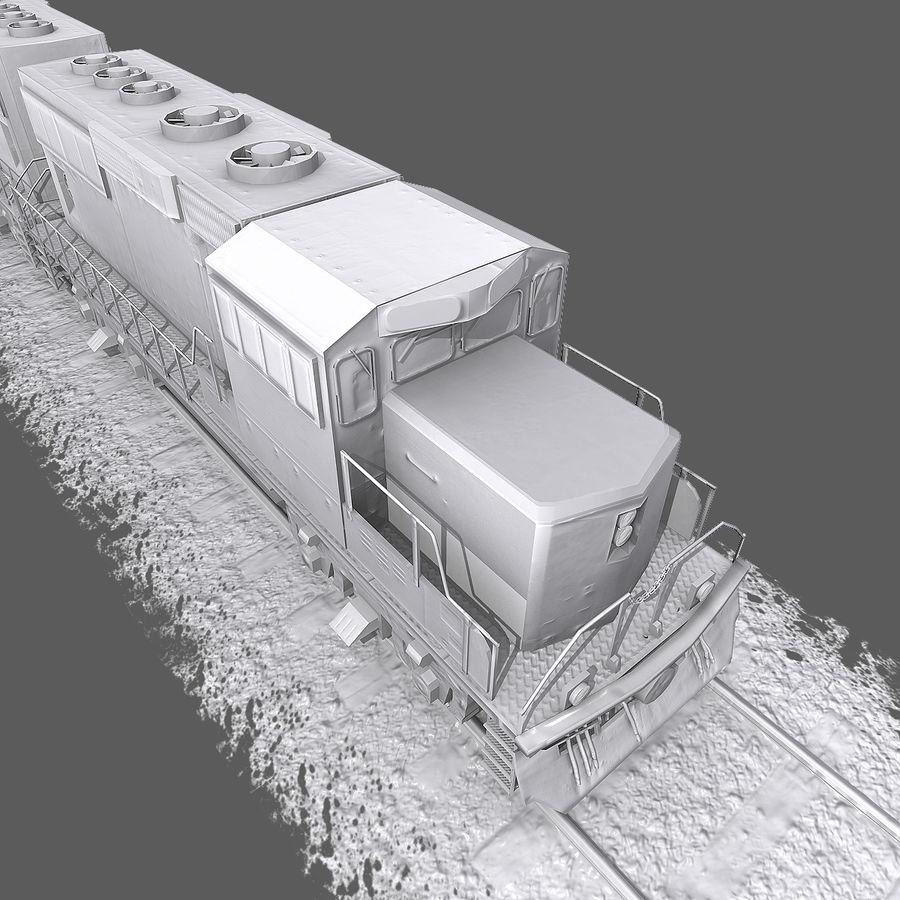 Lokomotif Motoru royalty-free 3d model - Preview no. 11