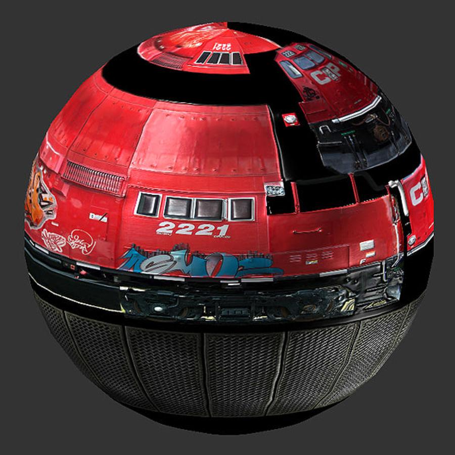 Lokomotif Motoru royalty-free 3d model - Preview no. 16