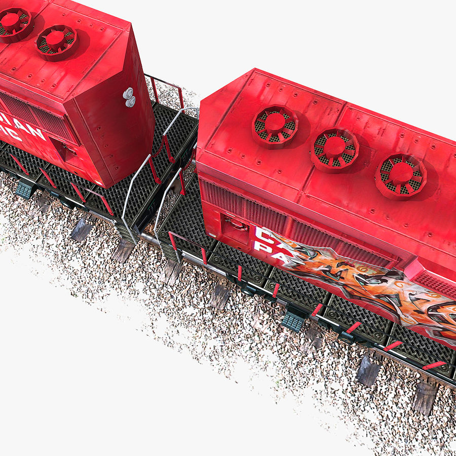 Locomotive Engine royalty-free 3d model - Preview no. 8