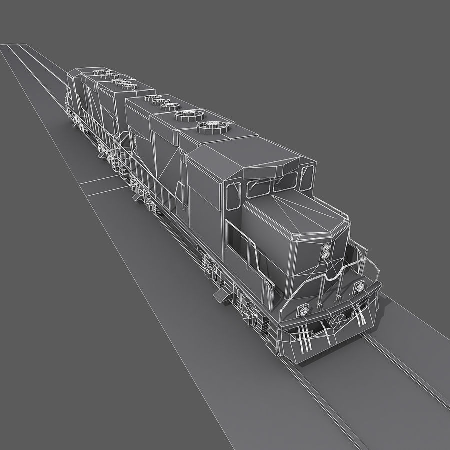 Locomotive Engine royalty-free 3d model - Preview no. 13