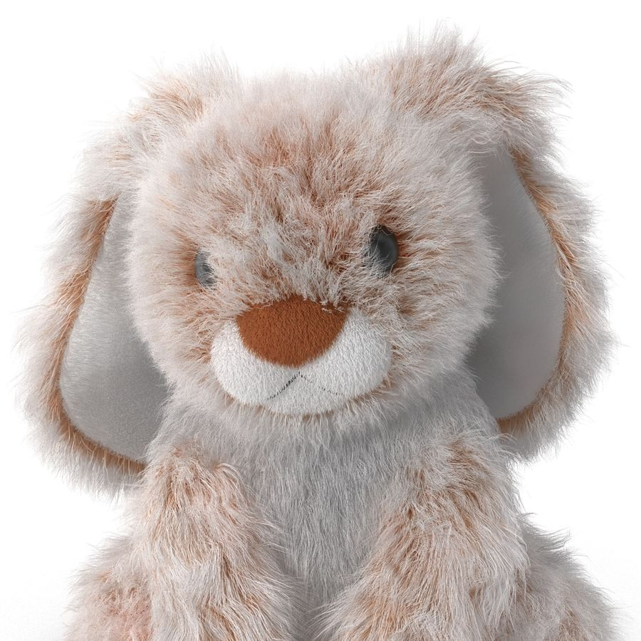 Jouet lapin en peluche royalty-free 3d model - Preview no. 14