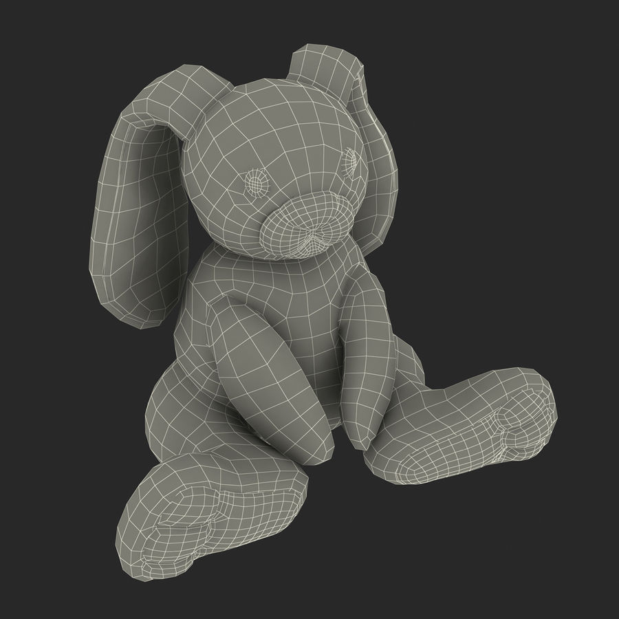 Jouet lapin en peluche royalty-free 3d model - Preview no. 21