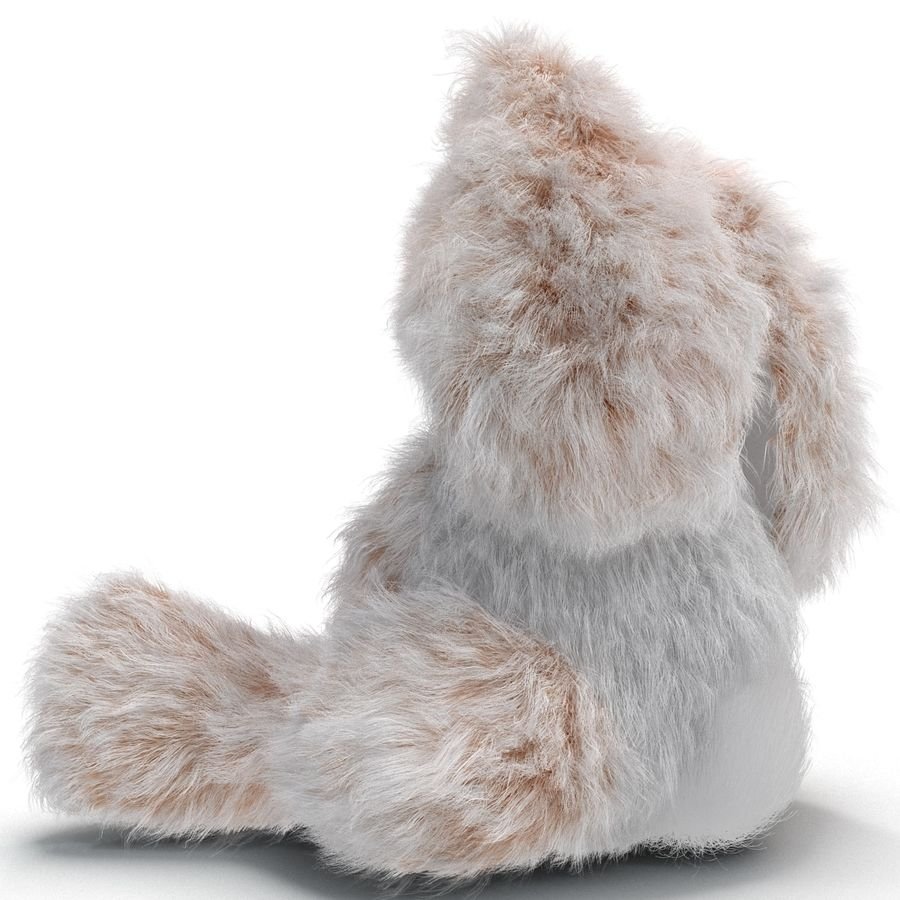Jouet lapin en peluche royalty-free 3d model - Preview no. 11