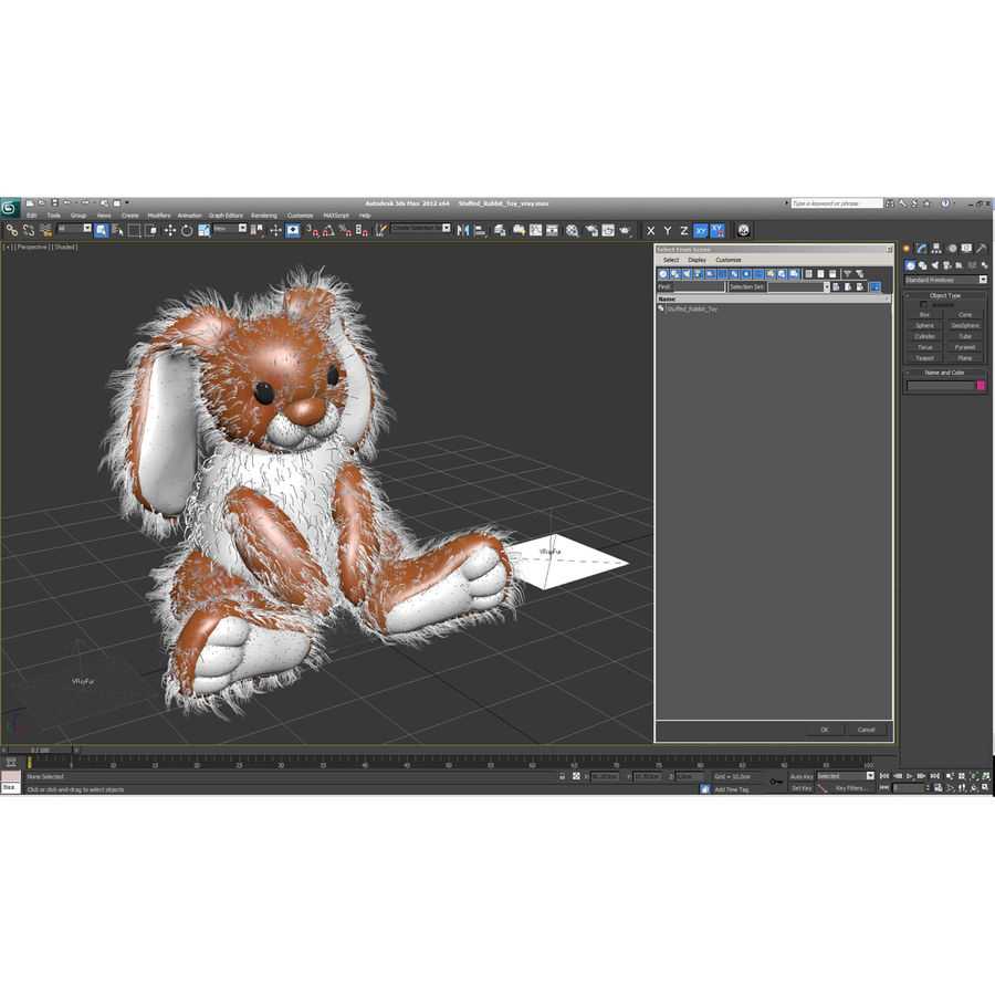 Jouet lapin en peluche royalty-free 3d model - Preview no. 6