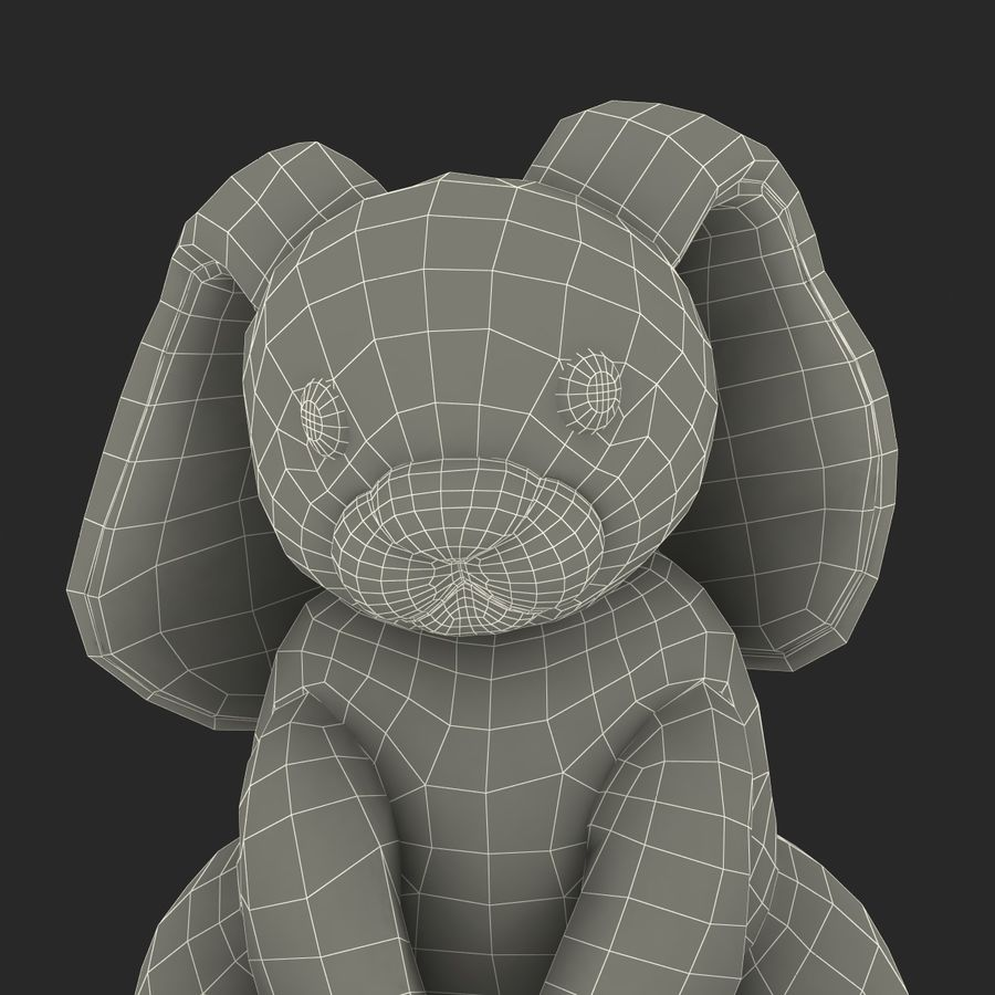 Jouet lapin en peluche royalty-free 3d model - Preview no. 30