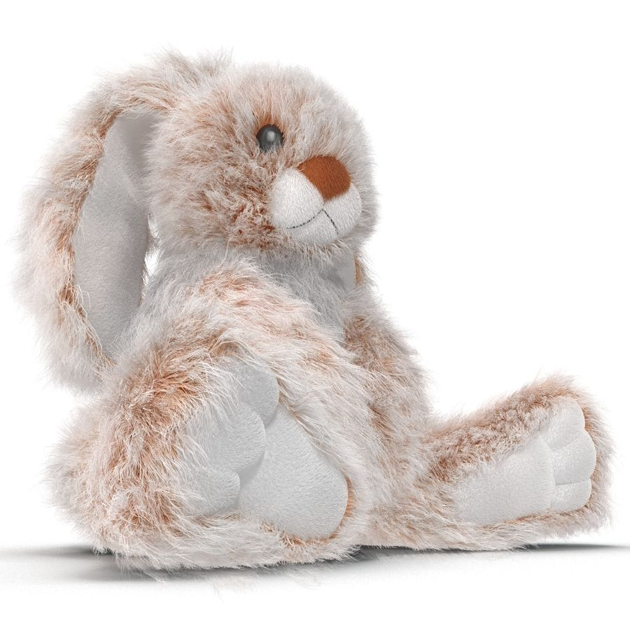 Jouet lapin en peluche royalty-free 3d model - Preview no. 9