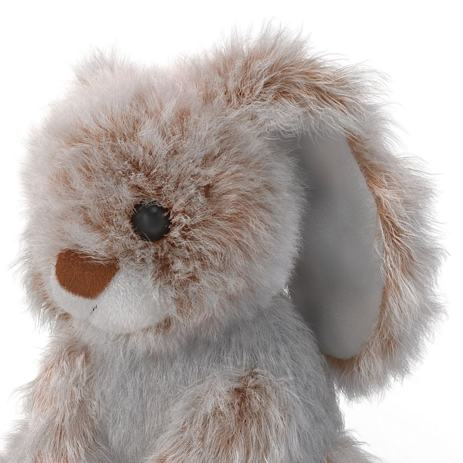Jouet lapin en peluche royalty-free 3d model - Preview no. 13