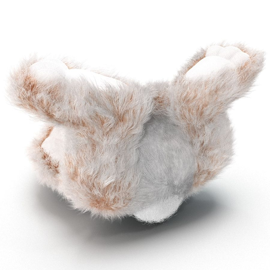 Jouet lapin en peluche royalty-free 3d model - Preview no. 18