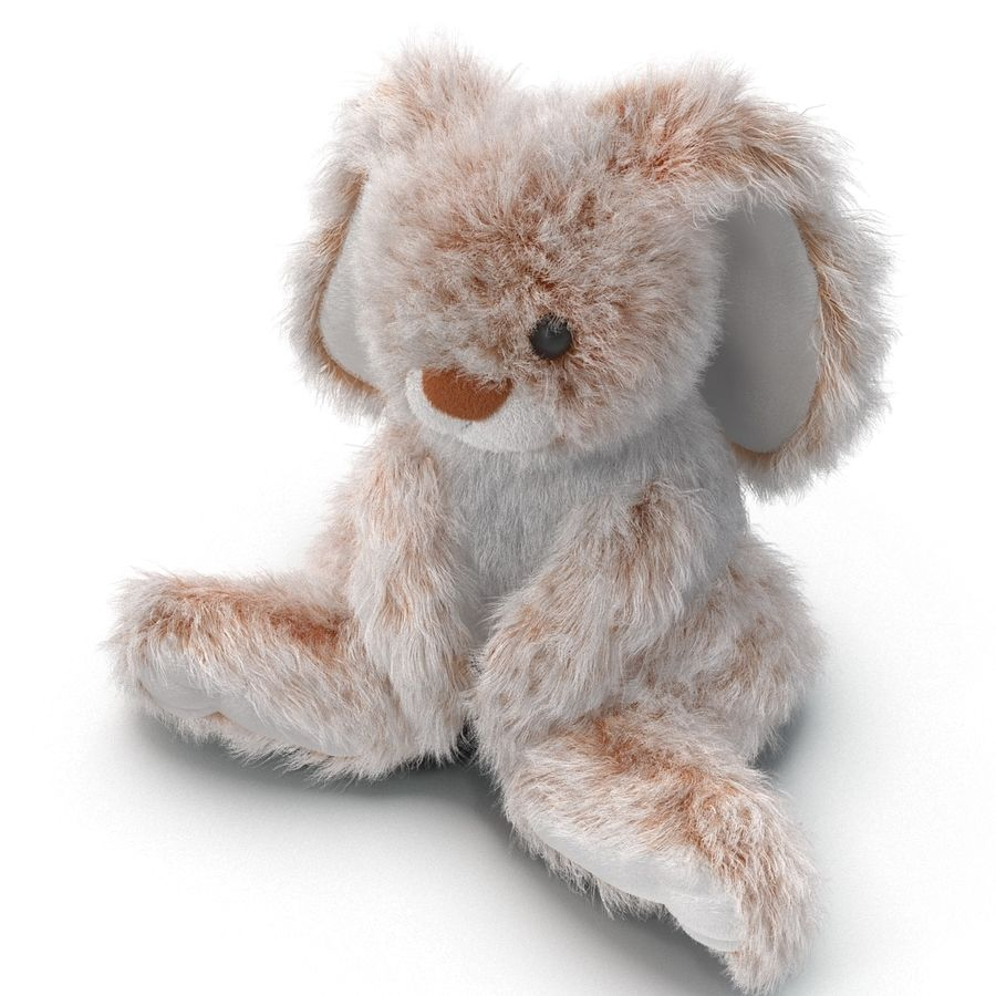 Jouet lapin en peluche royalty-free 3d model - Preview no. 12