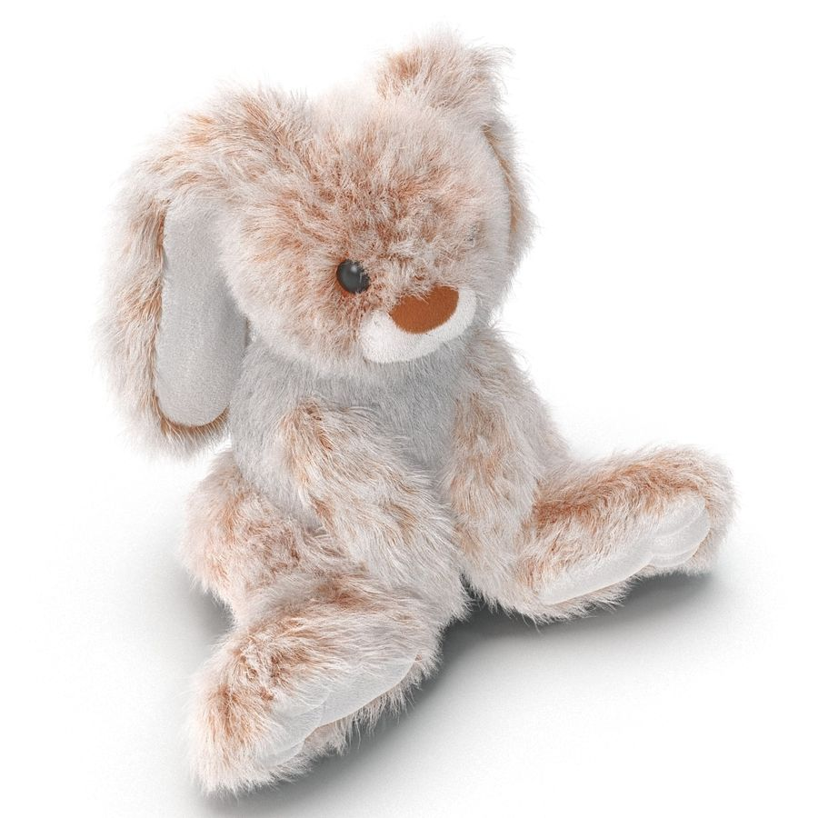 Jouet lapin en peluche royalty-free 3d model - Preview no. 8
