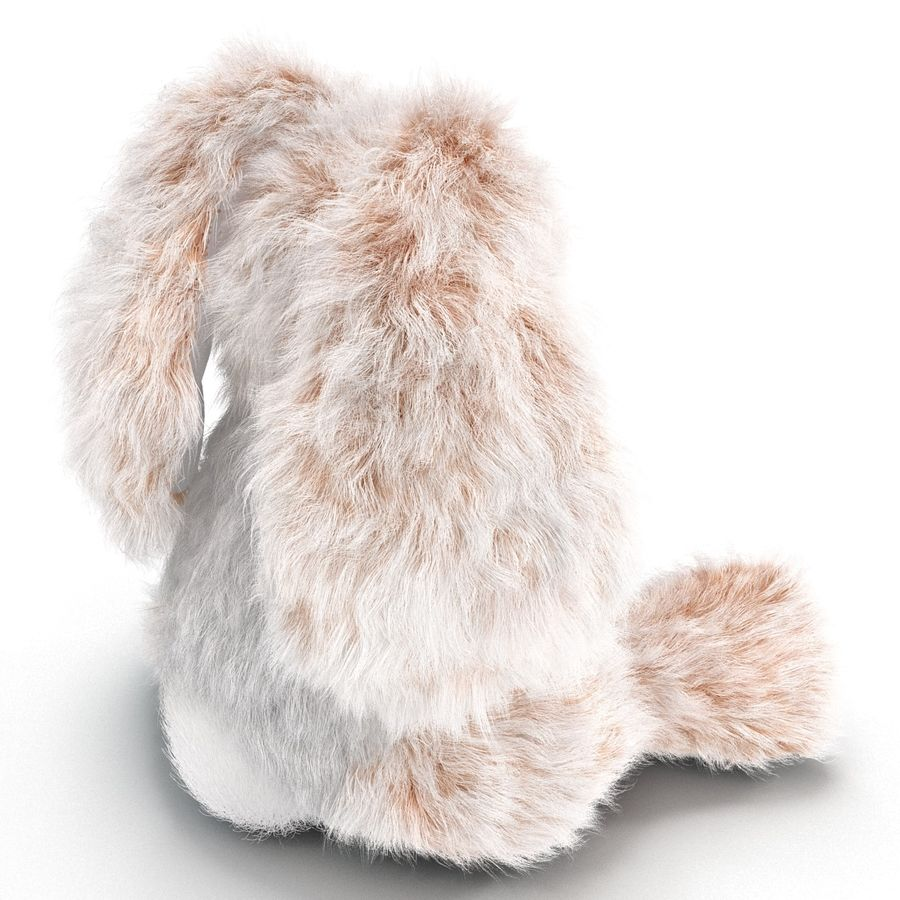 Jouet lapin en peluche royalty-free 3d model - Preview no. 10