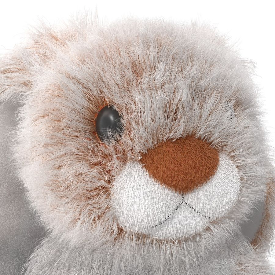 Jouet lapin en peluche royalty-free 3d model - Preview no. 15