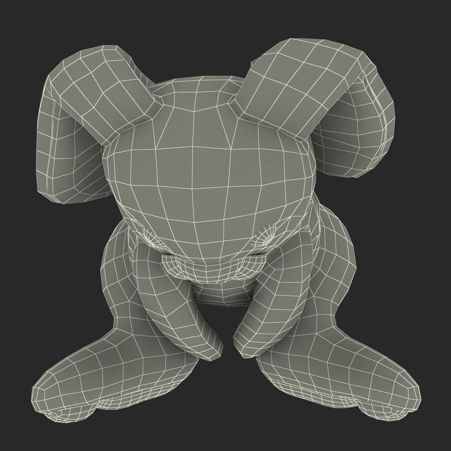 Jouet lapin en peluche royalty-free 3d model - Preview no. 25