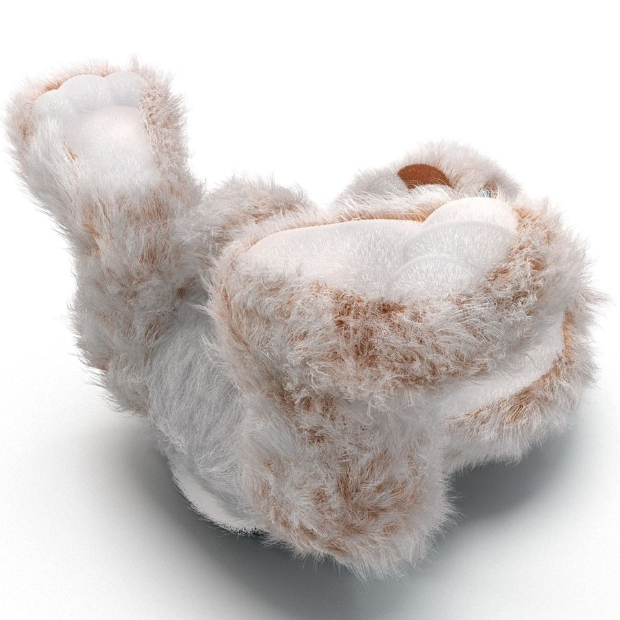 Jouet lapin en peluche royalty-free 3d model - Preview no. 19
