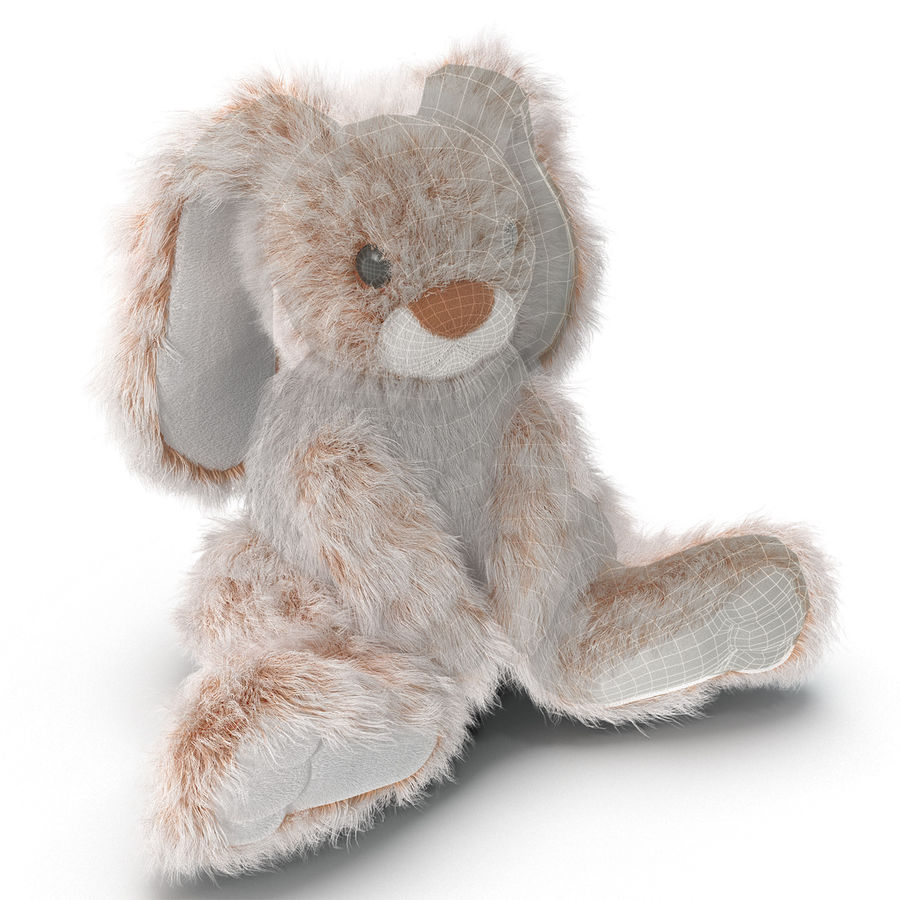 Jouet lapin en peluche royalty-free 3d model - Preview no. 1