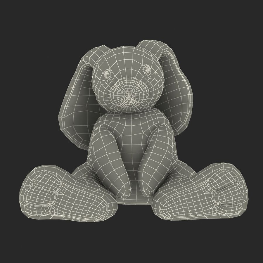 Jouet lapin en peluche royalty-free 3d model - Preview no. 22