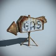 Znak gazu 3d model