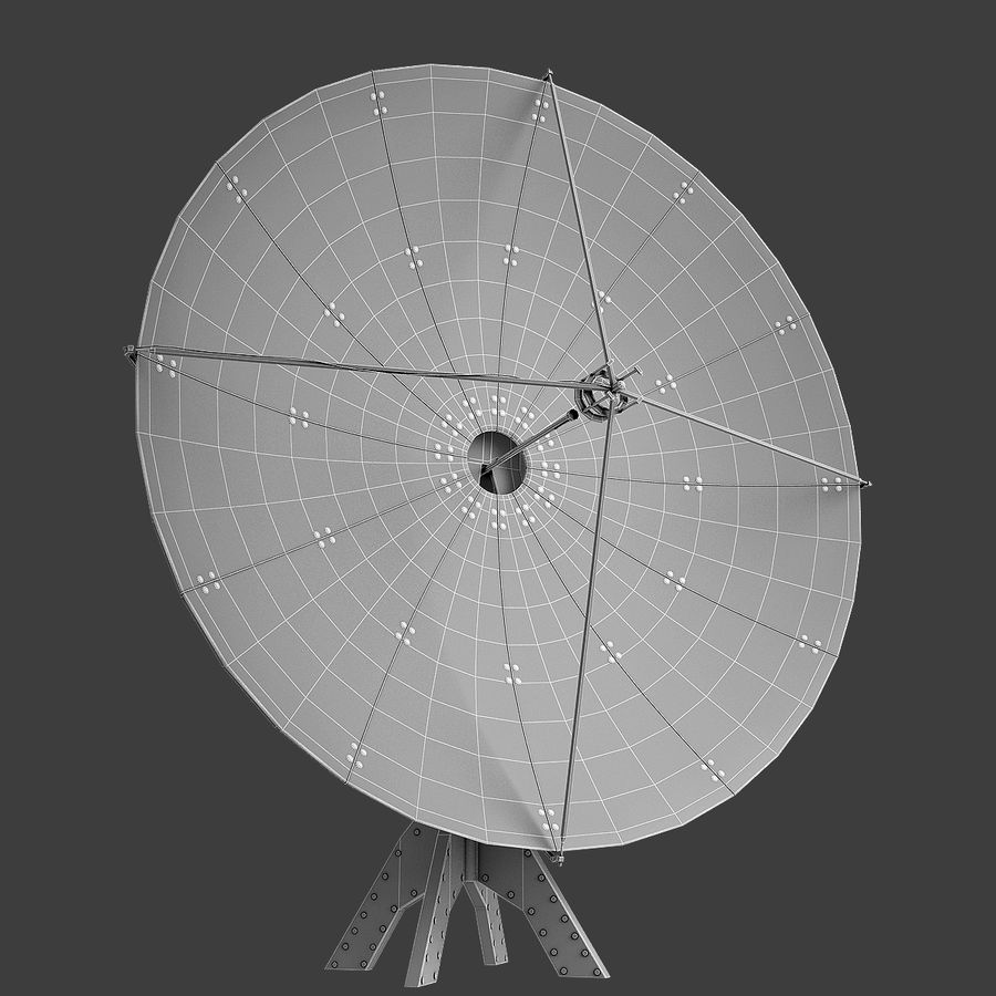Antenna Satellite royalty-free 3d model - Preview no. 7