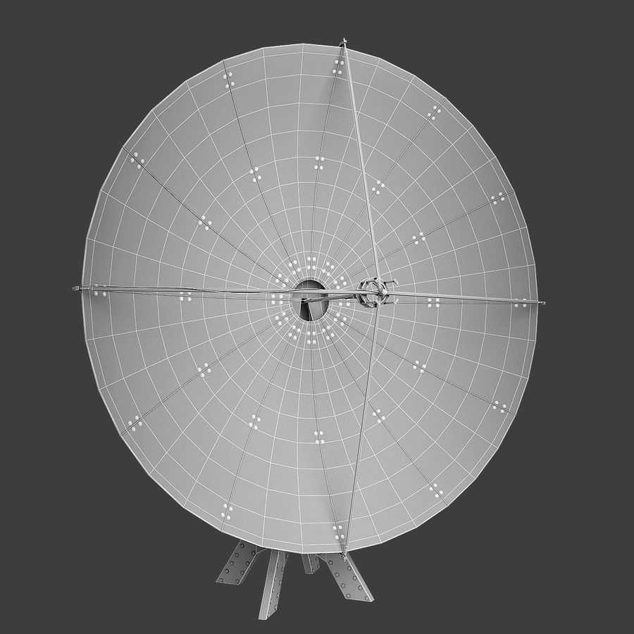 Antenna Satellite royalty-free 3d model - Preview no. 6