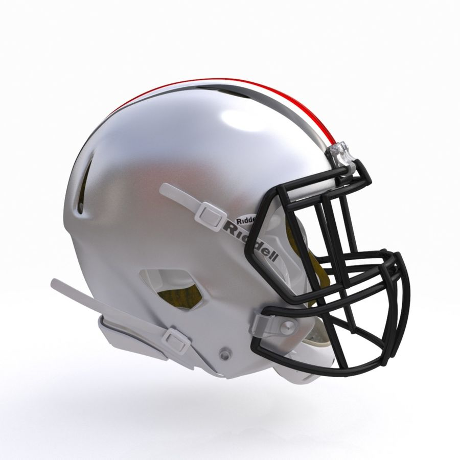 Casque de football américain royalty-free 3d model - Preview no. 8