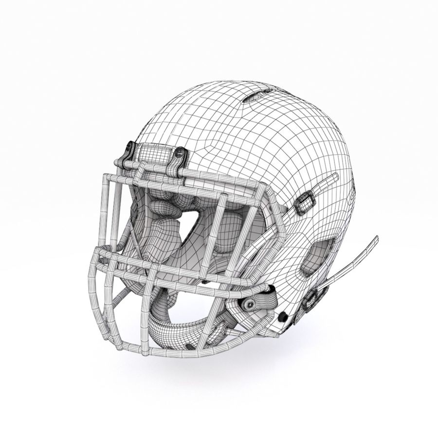 Casque de football américain royalty-free 3d model - Preview no. 13