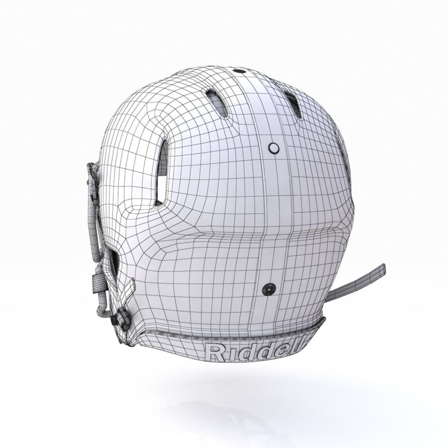 Casque de football américain royalty-free 3d model - Preview no. 15