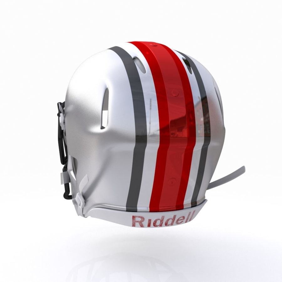 Casque de football américain royalty-free 3d model - Preview no. 9